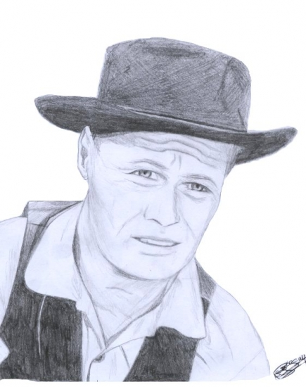 Richard Widmark by Annasofia